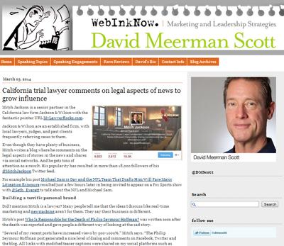 Mitch Profiled by David MeermanScott