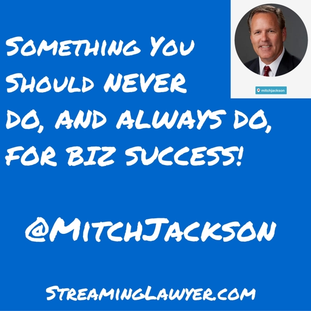 Streaming Lawyer Business Success Tip