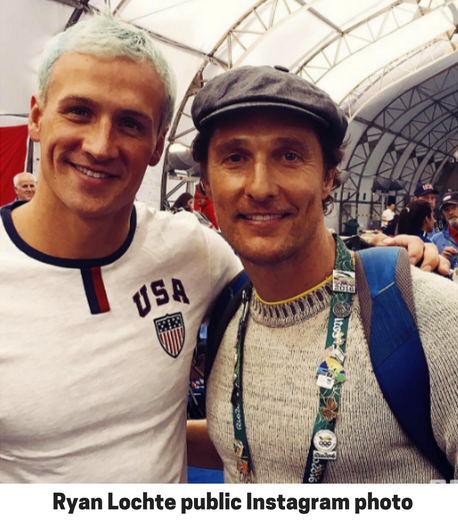 Ryan Lochte public Instagram photo